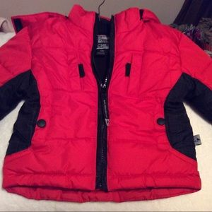 Toddlers red and black Rothschild jacket